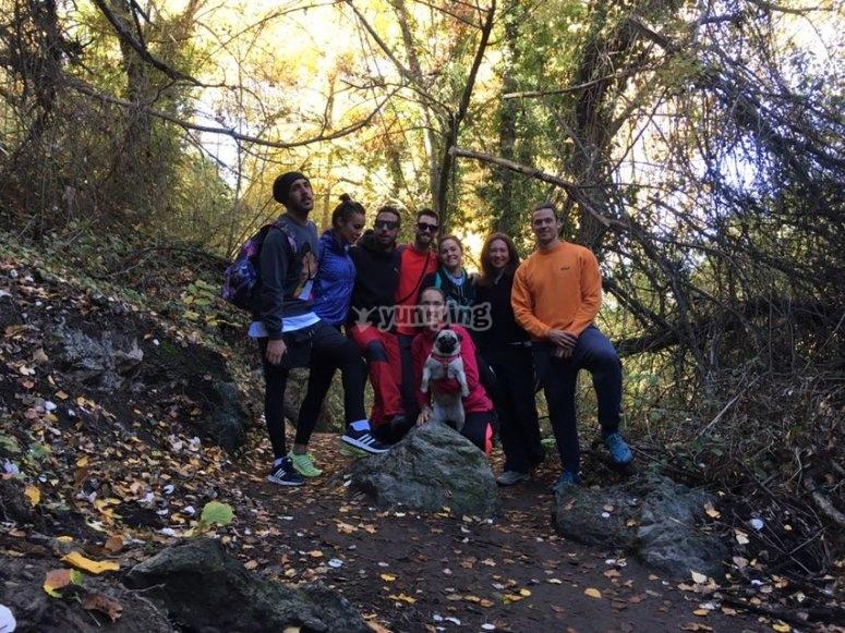 Grupo de senderistas Los Cahorros