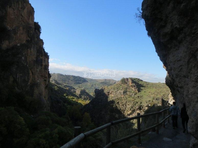 Vistas en la ruta Los Cahorros