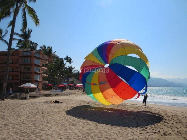 Preparacion de parasailing