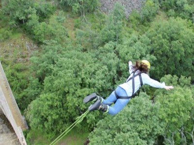 Bungee Jump w. Full Moon in Buitrago