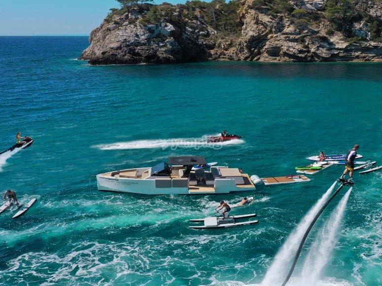 Water activities in Ibiza