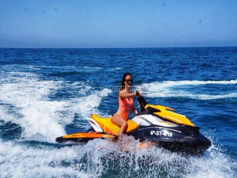 Ruta en moto de agua