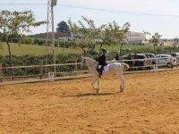 Amazona sobre el caballo en Utrera