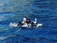 在海上滑水板