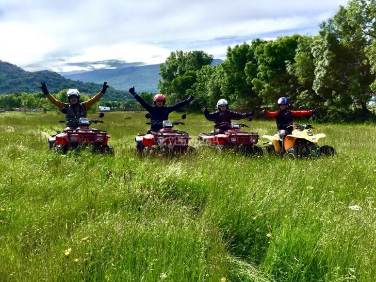 Quad in the field
