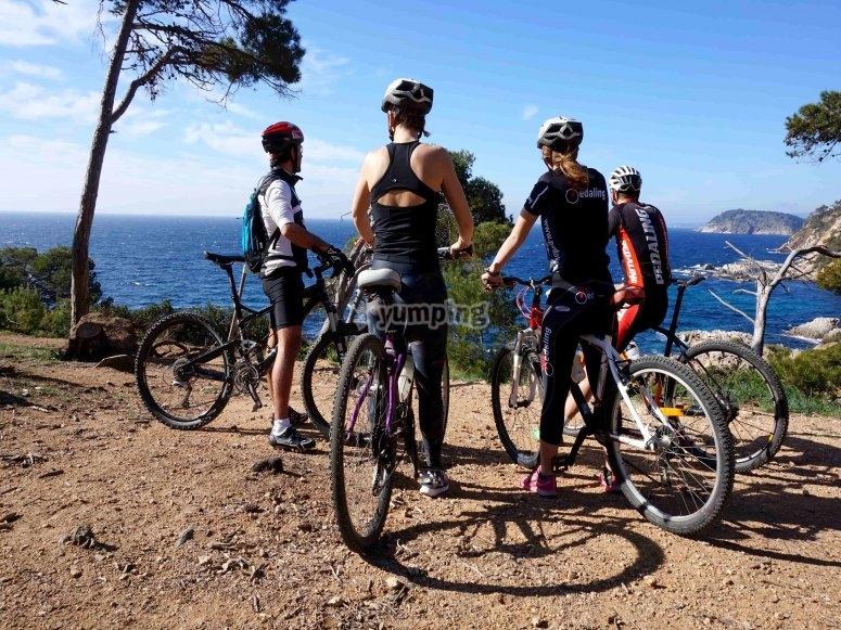 ruta en bici por la costa