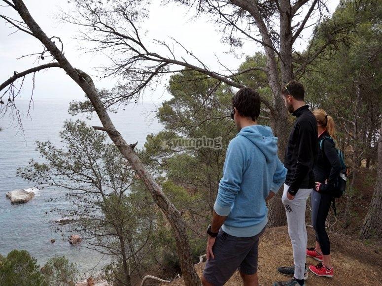 vistas de la playa  de san Sebastian