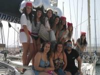 Despedida de soltero en velero bahía Cádiz 4 horas