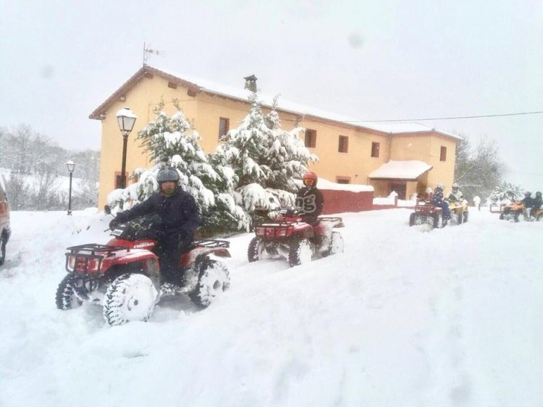 Route through snow