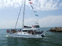 Festa in catamarano
