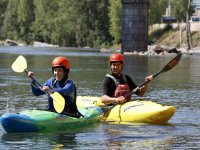 Learn to sail in canoe