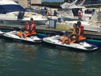 Two ready jet skis