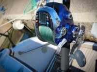 Carrete de pesca electrico