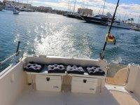 Parte trasera del barco de pesca en La Manga