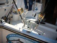 Silla para pescar en barco en La Manga