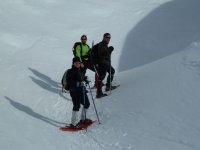 we make routes through the snow