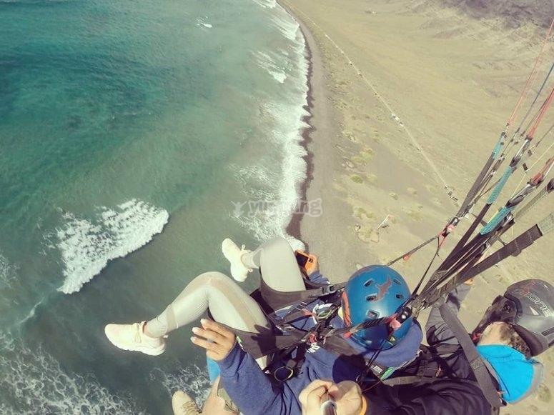 Vuelo en tandem parapente Lanzarote