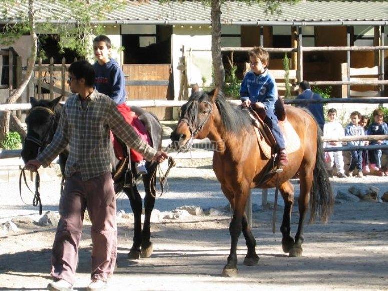 5 minutos montando a caballo
