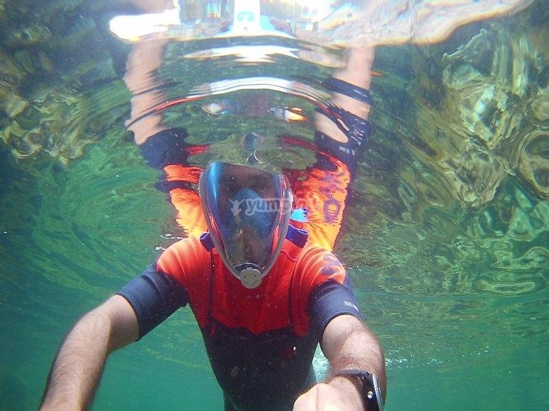 Snorkel en playa de Aro