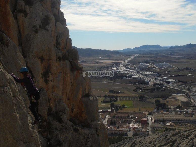 Escalando Villena