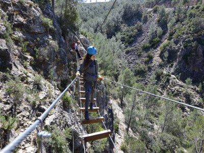 Vía Ferrata de Enguera con tirolina 70 metros