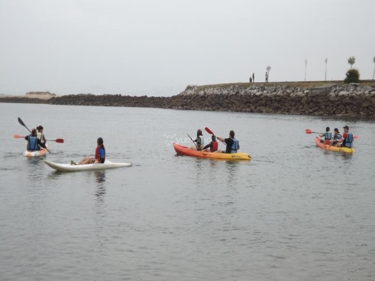 Kayaks en Lierganes