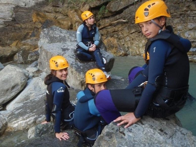 Kids in the ravine