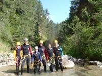 在Tena Pyrenees山谷2级溪降