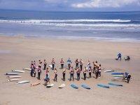 Previous exercises on the beach