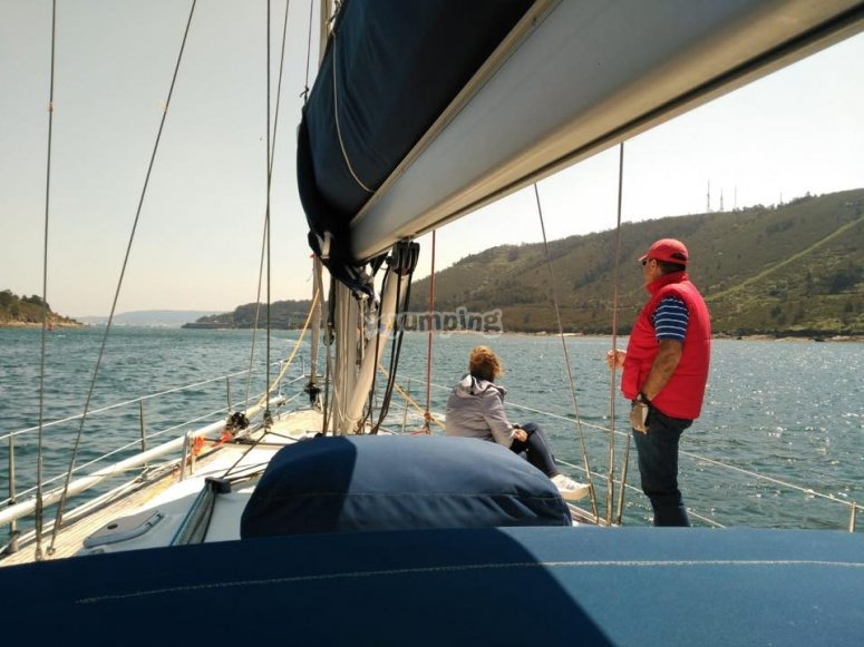 Navegando en pareja en el barco