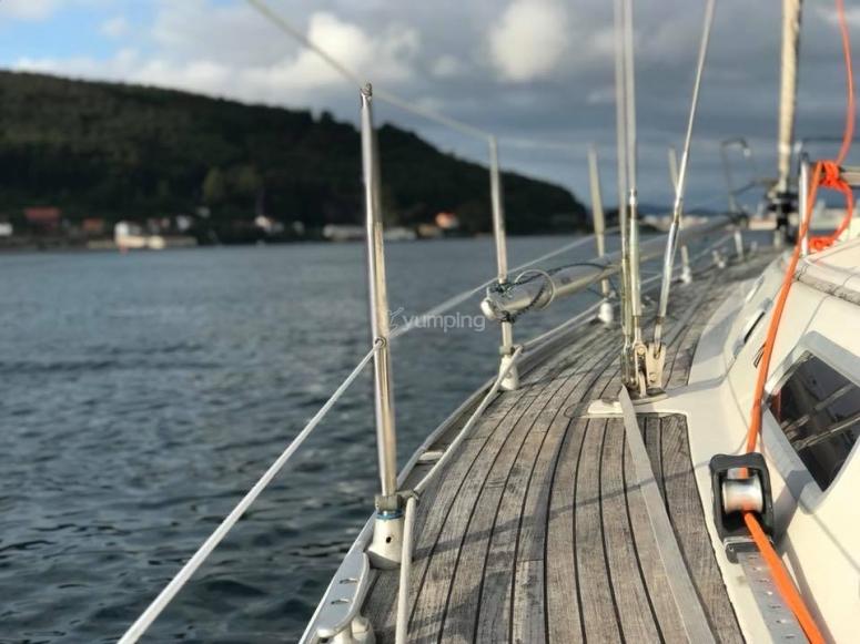 加利西亚海岸的帆船
