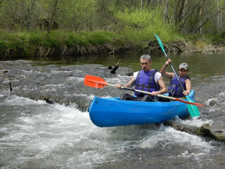 Paddling over the obstacle