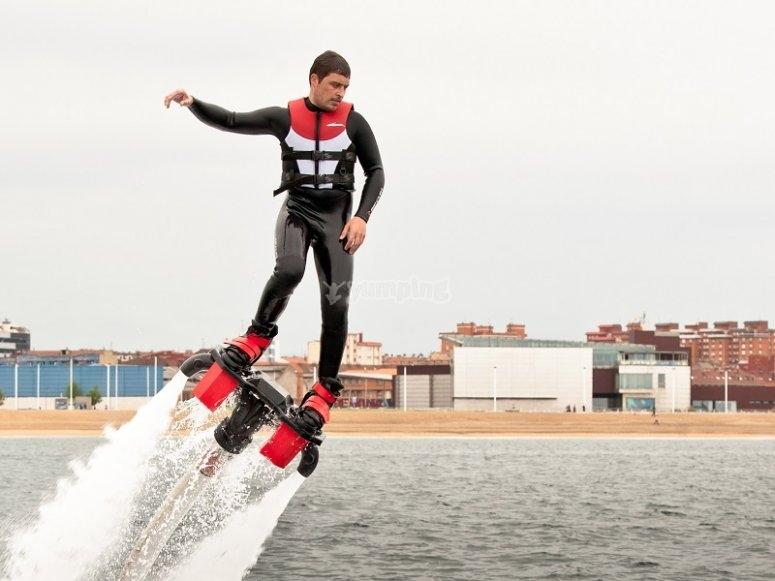 Impulsando el flyboard
