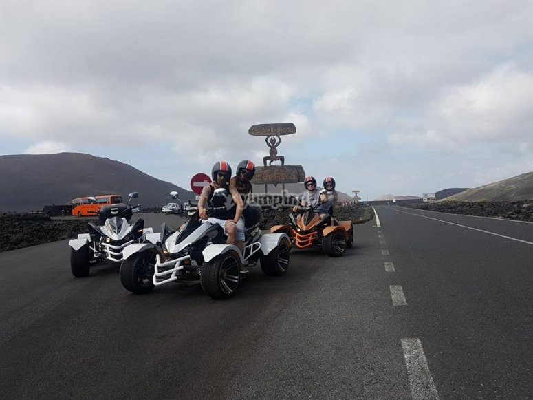 quad doble y timanfaya