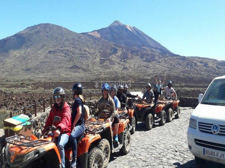 Parada antes de llegar al Teide