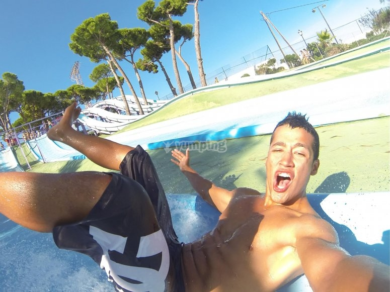 Fun times in the water park
