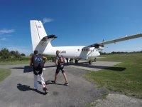 De camino al avión