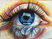 Ojo de iris azul