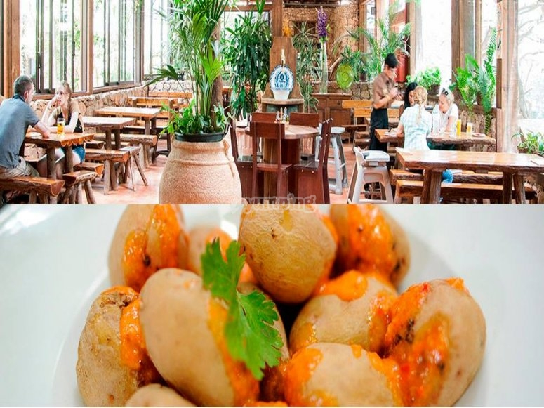 Restaurant and potatoes