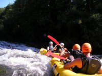 Descending the white water