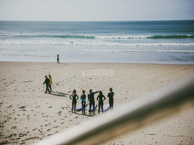 reunion en la playa