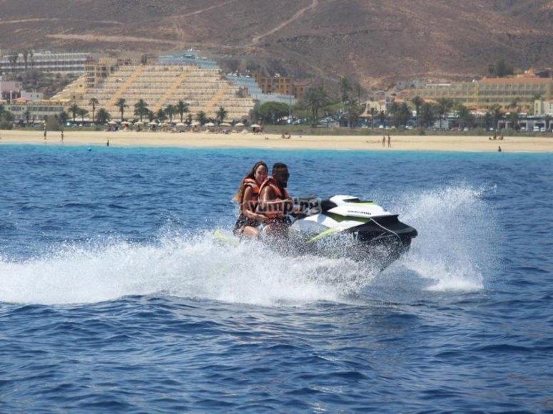 Excursión en moto de agua por Morro Jable