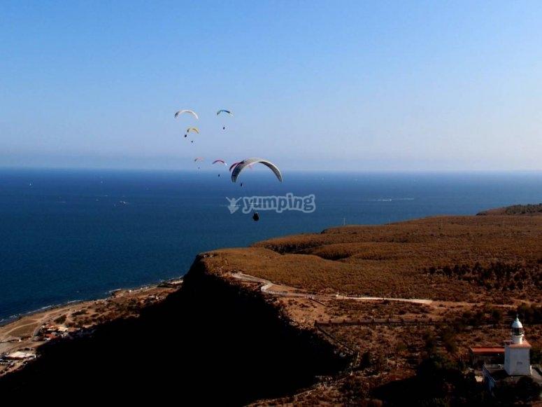 Volando hacia el Mediterraneo