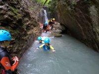 Canyoning enfant à Aigueta de Barbaruens