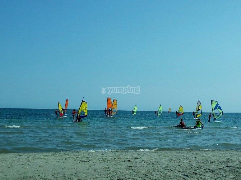 Impressive paddle surfing trip