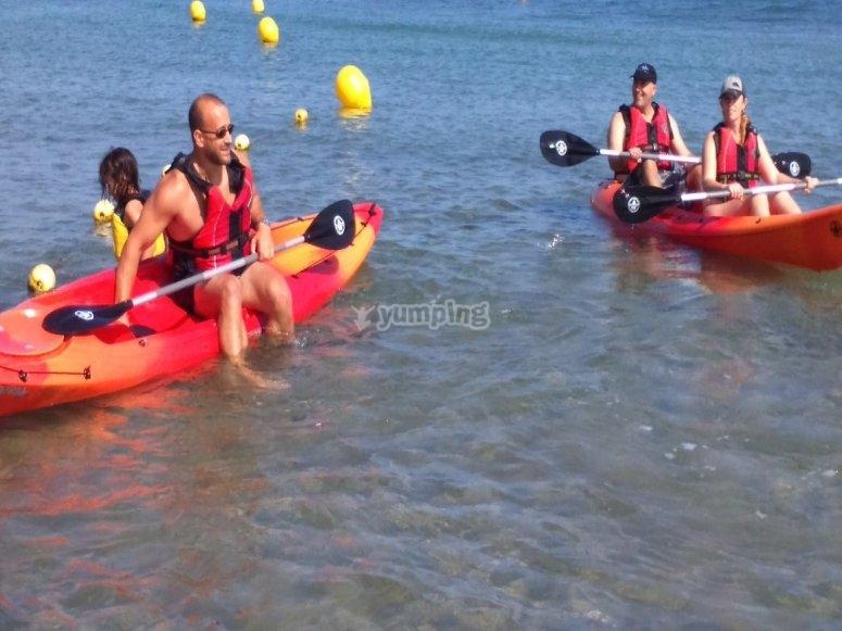 Kayak en la costa Dorada