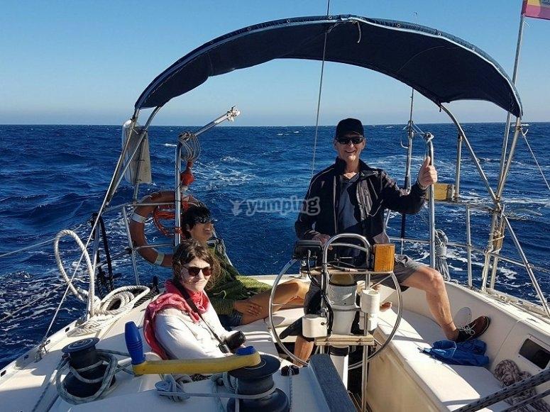 Capitan y pasajeros