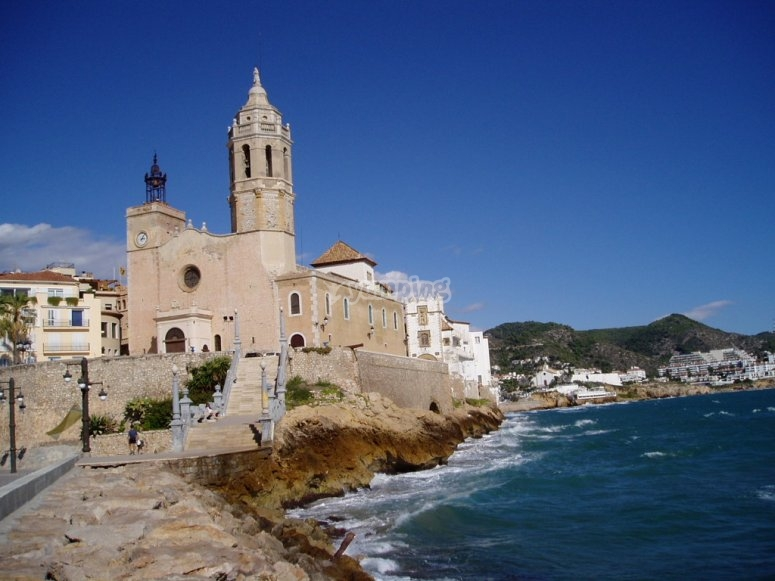 Church in the cliff, Sitges