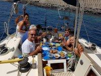 Comida en el velero