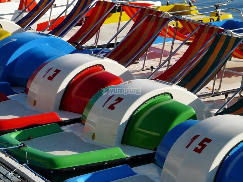 Colorful pedal raft